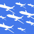 Graphic airplane pattern — Stock Photo