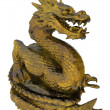 Stock Photo: Chinese golden dragon