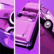 Stock Photo: Retro styles cars illustration