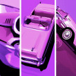 Retro styles cars illustration — Stock Photo