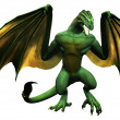 Stock Photo: Dragon like creature with wings spread