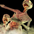 Zombie creatures and mist — Stock Photo