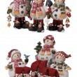6 Christmas ornaments — Stock Photo