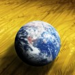 Stock Photo: Globe on curcuit board
