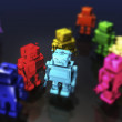 Robots in bright colours — Stock Photo