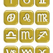Royalty-Free Stock Photo: Astrology sign buttons