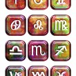 Astrology sign buttons — Foto Stock