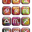 Astrology sign buttons — Stock Photo