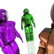 Three futuristic robots - Stock Photo
