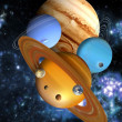 Stock Photo: Nine planets