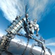Nanotechnology robots — Stock Photo