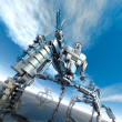 Stock Photo: Nanotechnology robots