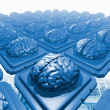 Microchips with brains — Stock Photo #10257242