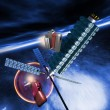 Stock Photo: Spacestation in earth orbit