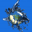 Grey Goo over planet earth — Stock Photo