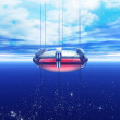 A space elevator is seeing rising into earth orbit — Stock Photo