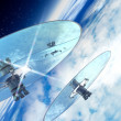 Stock Photo: Space mirrors in earth orbit
