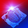 Artificial human brain on computer chip — Stockfoto