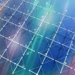 High Frequency Active Auroral antenna ansd weird light — Stock Photo