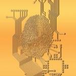 Digital fingerprint design — Stock Photo