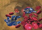 Nanotechnology in the human body — Stock Photo