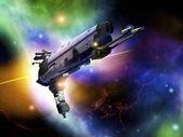 Spaceship illustration — Stock Photo