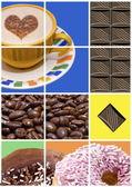 Coffee, donuts and Chocolate — Stock Photo