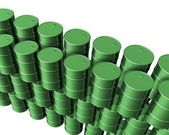 New Oil drums — Stock Photo