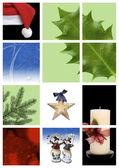 Christmas montage — Stock Photo