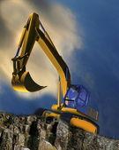 Digger truck — Stock Photo