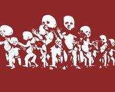 Gráfico de clonagem humano — Foto Stock