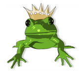 Cartoon Frog with crown — Stock Photo