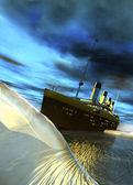 Titanic e o iceberg — Foto Stock