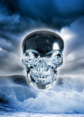 Crystal skull — Stock Photo