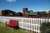 Stary bocznic kolejowych z lokomotyw — Zdjęcie stockowe