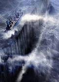 Bermuda Triangle ship disaster. — Stock Photo