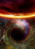 Black hole in space — Stock Photo