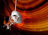 Satellite and planet rings — Stock Photo