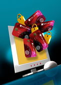 Fraude e segurança informática — Fotografia Stock