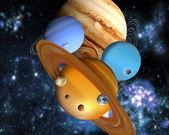 The nine planets — Stock Photo