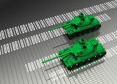 Virtual tanks protecting computer data — Stock Photo