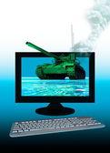 Sanal tank bilgisayar verileri koruma — Stok fotoğraf