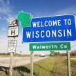 Stock Photo: Welcome to Wisconsin