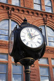 Historic street clock in Peoria — Stock Photo
