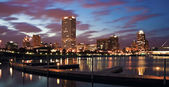 Evening Panorama of Milwaukee — Stock Photo