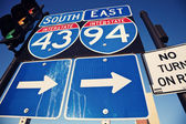 Interstate 90 and 94 — Stock Photo