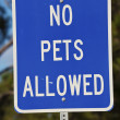 No pets allowed sign — Stock Photo