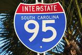 Interstate 95 in South Carolina — Stock Photo
