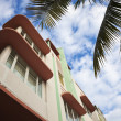 Colorful art deco architecture of Miami Beach — Stock Photo