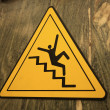 Careful on the stairs — Stock Photo